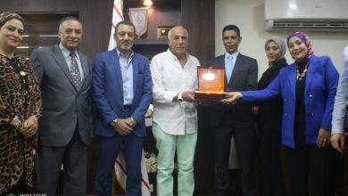 Photo of حسين لبيب يستقبل وفدًا من اتحاد الشباب العربي